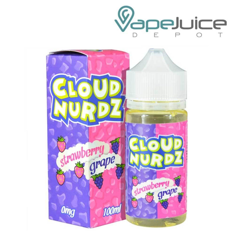 Cloud Nurdz Strawberry Grape e-Liquid 100ml - VapeJuiceDepot