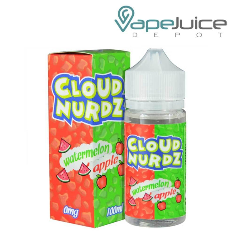 Cloud Nurdz Watermelon Apple e-Liquid 100ml - VapeJuiceDepot