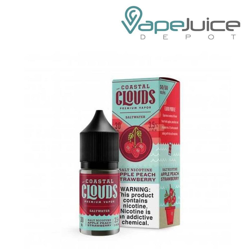 Coastal Clouds Apple Peach Strawberry Saltwater - VapeJuiceDepot