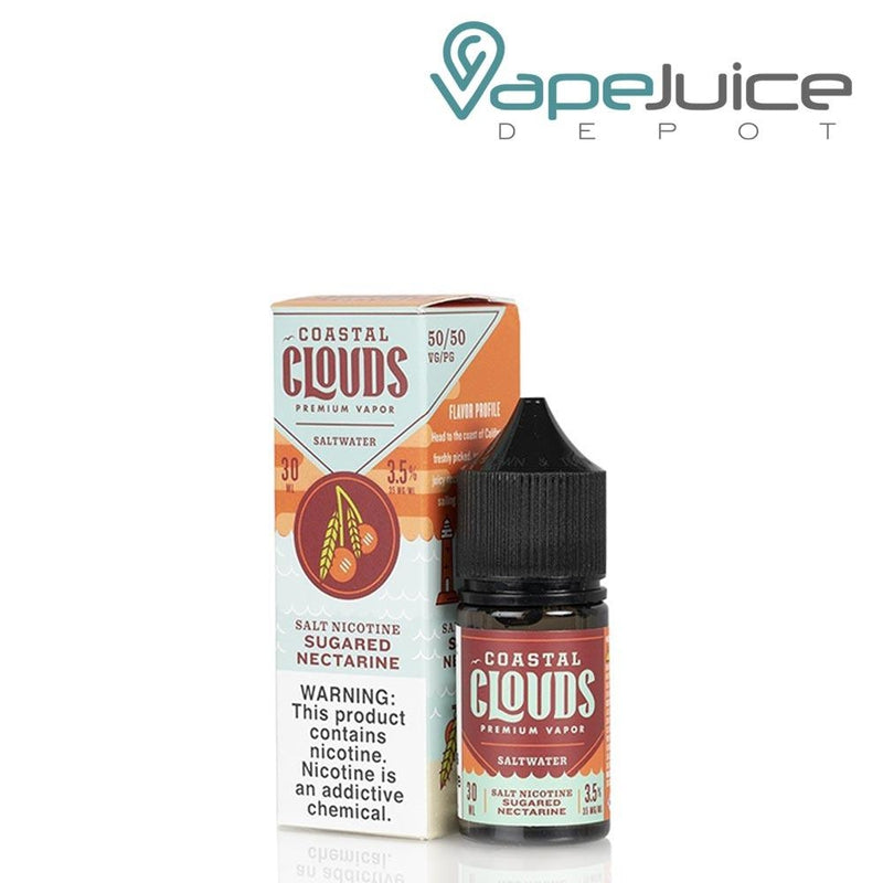 Coastal Clouds Sugared Nectarine Saltwater - Vape Juice Depot
