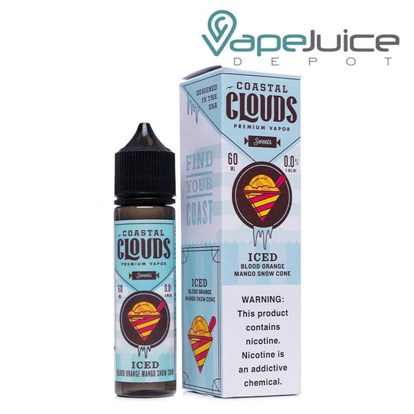 Coastal Clouds ICED Blood Orange Mango Snow Cone eLiquid 60ml - Vape Juice Depot