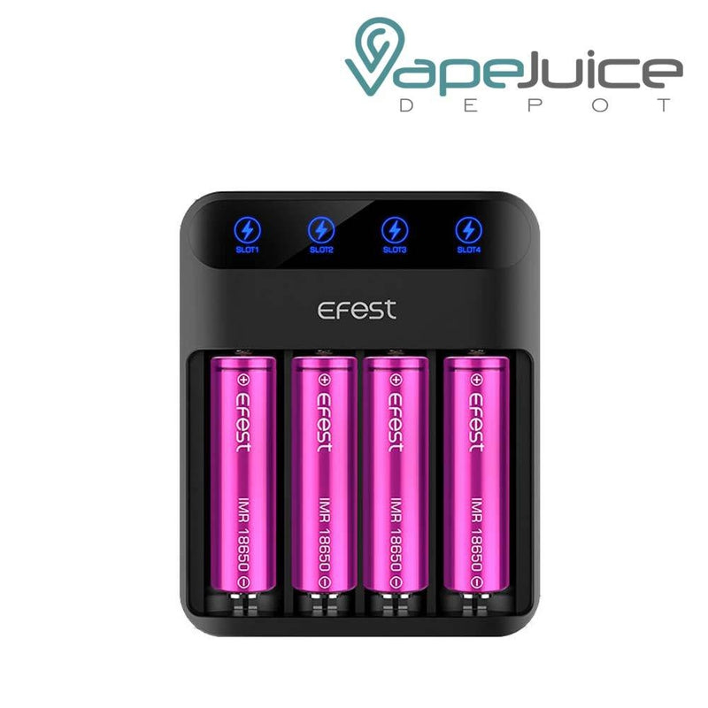 Efest LUSH Q4 Battery Charger | Four Bay - VapeJuiceDepot