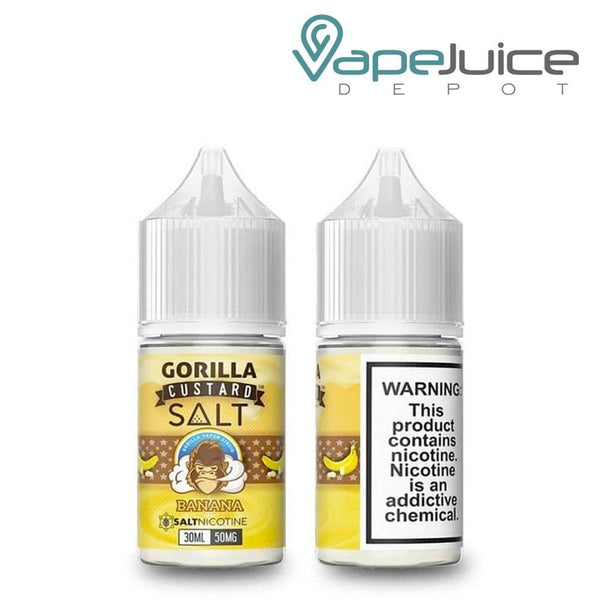 Gorilla Custard Salt eLiquids 30ml Banana 30mg - Vape Juice Depot