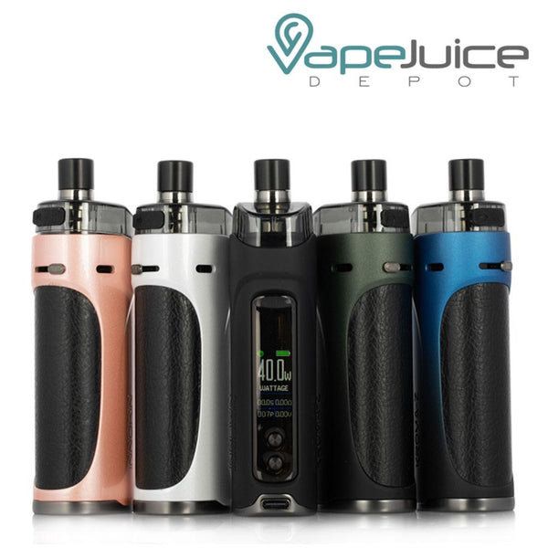 Five Innokin Kroma-Z Pod Mod Systems with display screen and two adjustment buttons - Vape Juice Depot