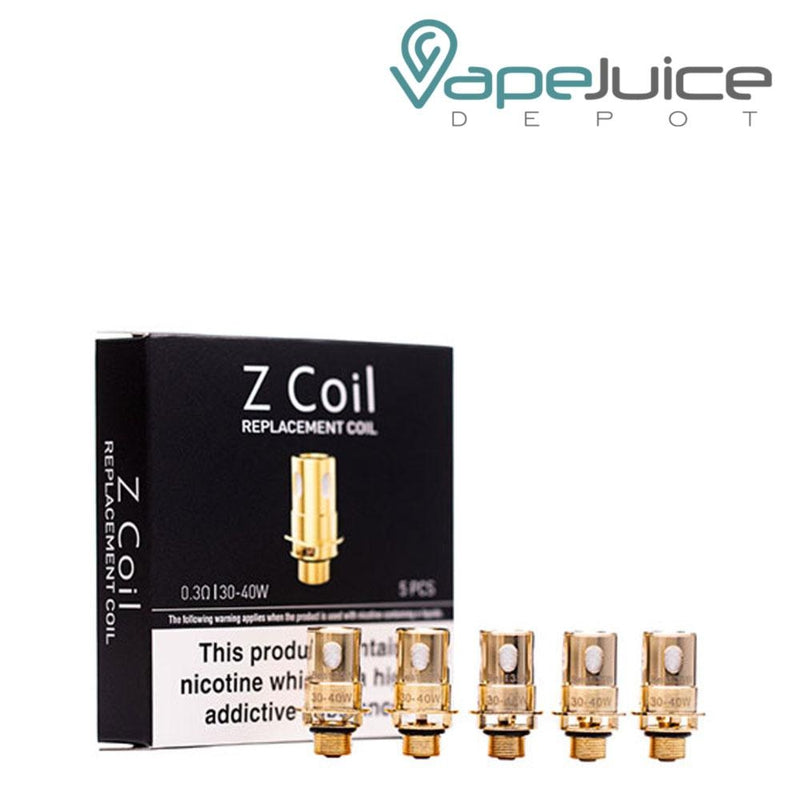 A box of Innokin Zenith Series Replacement Coils and five separate coils - Vape Juice Depot