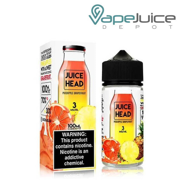 Juice Head Pineapple Grapefruit eLiquid 100ml - Vape Juice Depot