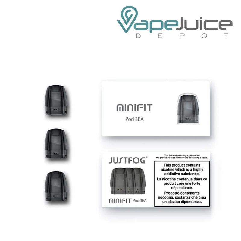 JustFog MiniFit Pod Cartridges | Pack of 3 - VapeJuiceDepot