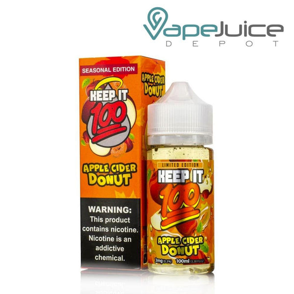 Keep it 100 Apple Cider Donut eLiquid 100ml - Vape Juice Depot