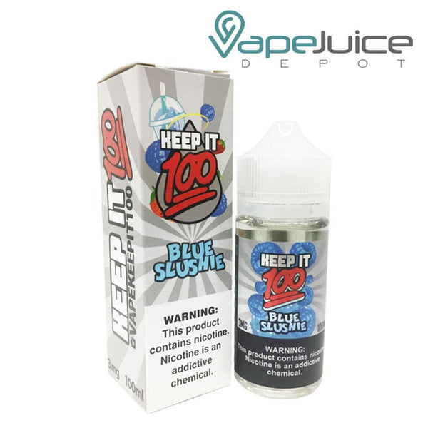 Keep it 100 Blue Slushie e-Liquid 100ml - VapeJuiceDepot