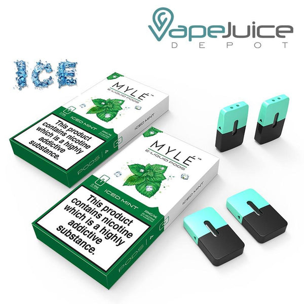 MYLE Iced Mint Pods Pack of 4 - Vape Juice Depot