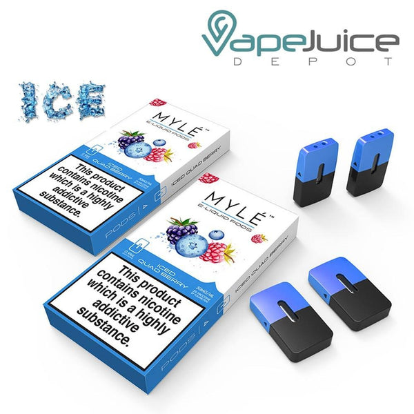 MYLE Iced Quad Berry Pods - VapeJuiceDepot