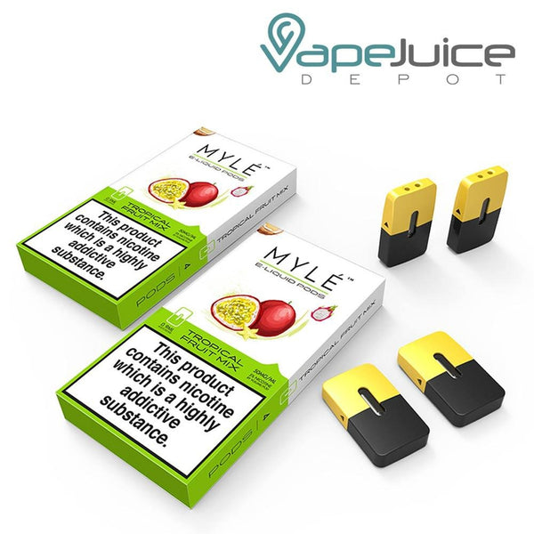 MYLE Tropical Fruit Mix Pods - VapeJuiceDepot