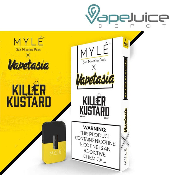 MYLE Pods VAPETASIA Killer Kustard Pack of 4 - FREE Shipping