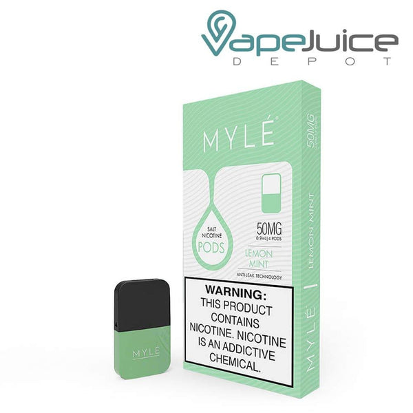 MYLE Pods V4 Lemon Mint NOT FOR SALE IN US - Vape Juice Depot