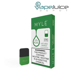 MYLE Pods V4 Iced Apple Mango NOT FOR SALE IN US - Vape Juice Depot