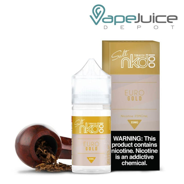 NKD 100 Salt Euro Gold eLiquid 30ml - VapeJuicdeDepot
