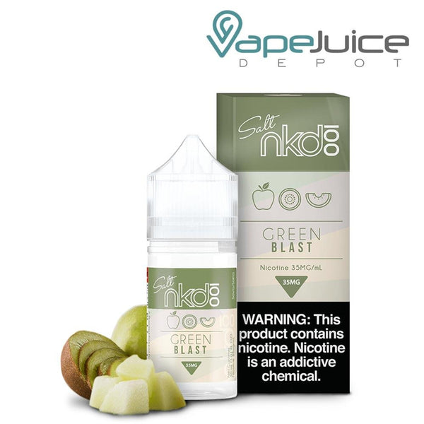 NKD 100 Salt Green Blast eLiquid 30ml - VapeJuiceDepot