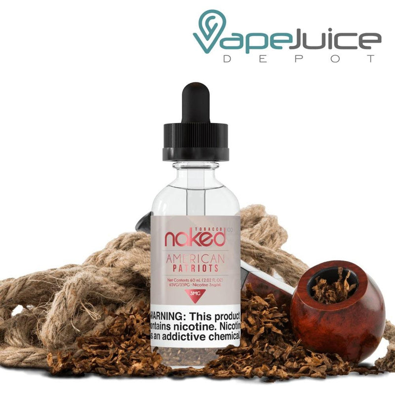 Naked 100 Tobacco American Patriots eLiquid 60ml - VapeJuiceDepot