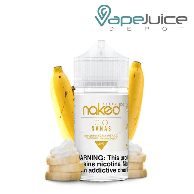 Naked 100 Cream Go Nanas eLiquid 60ml - VapeJuicedepot