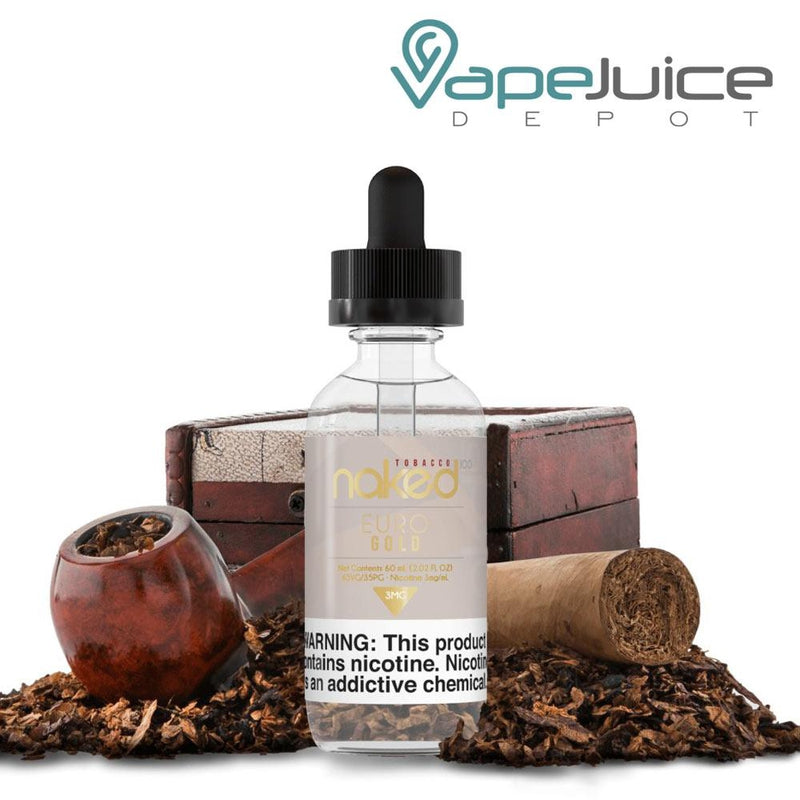 Naked 100 Tobacco Euro Gold e-Liquid 60ml - VapeJuiceDepot