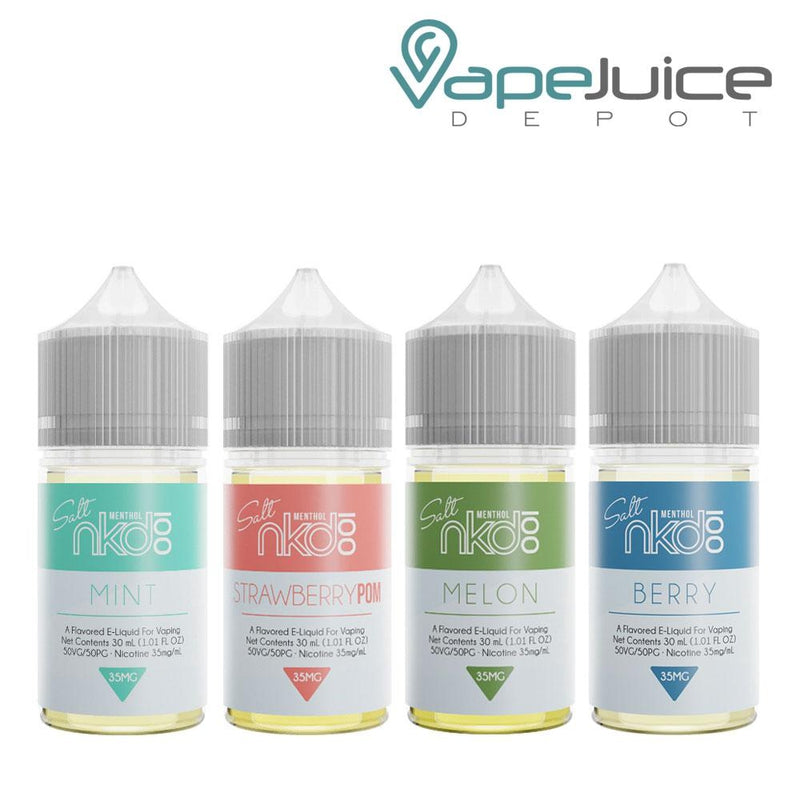 Naked 100 Salts Menthol Line BUNDLE 4x 30ml - Vape Juice Depot