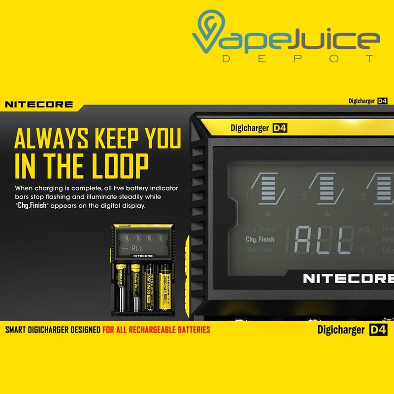 NITECORE D4 Digital Battery Charger - Vape Juice Depot