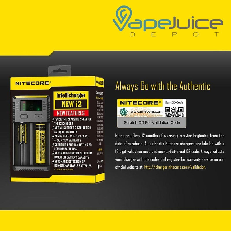NITECORE Intellicharger NEW i2 Battery Charger - Vape Juice Depot