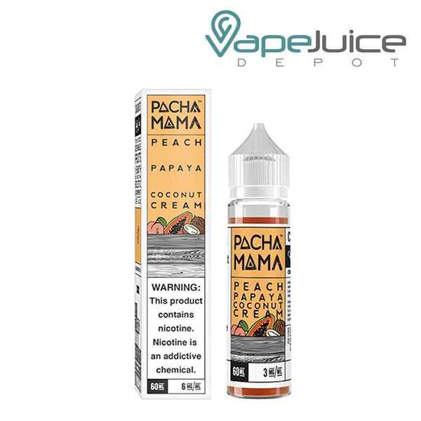 PachaMama Peach Papaya Coconut Cream e-Liquid 60ml - Vape Juice Depot