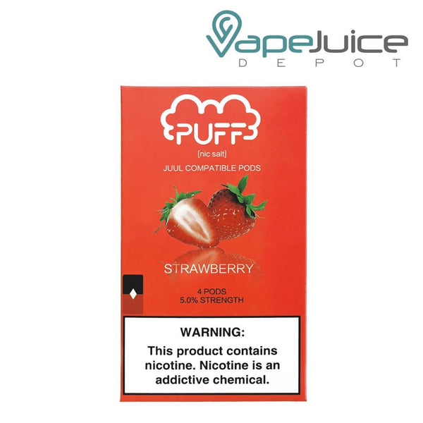 PUFF Pods Strawberry Juul Compatible - Vape Juice Depot