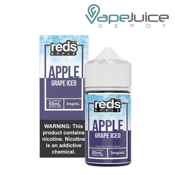 Reds Grape ICED e-Liquid By 7 Daze 60ml Vape Juice Depot