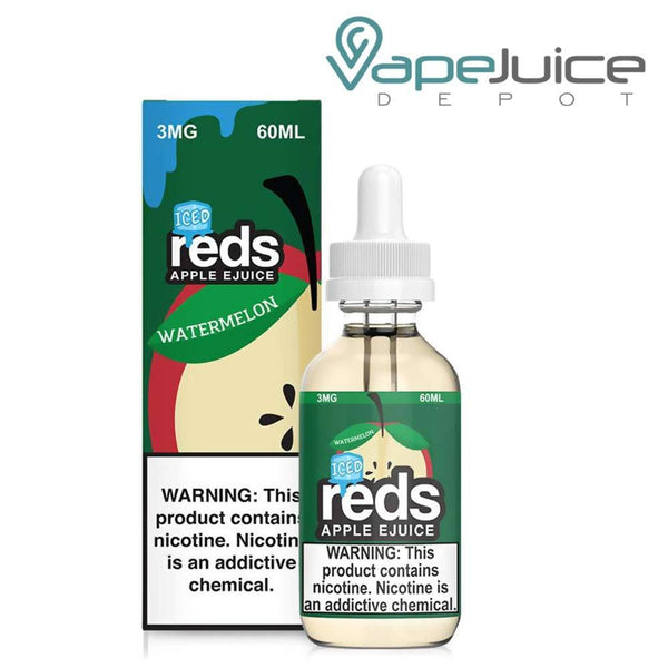 REDS ICED EJUICE WATERMELON APPLE 60ml - Vape Juice Depot