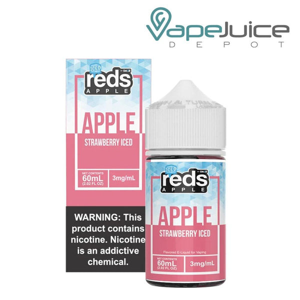 Reds Iced eJuice Strawberry Apple 60ml - Vape Juice Depot