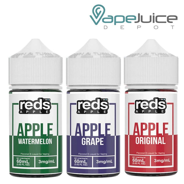 Reds Apple eJuice BUNDLE 3x 60ml - Vape Juice Depot