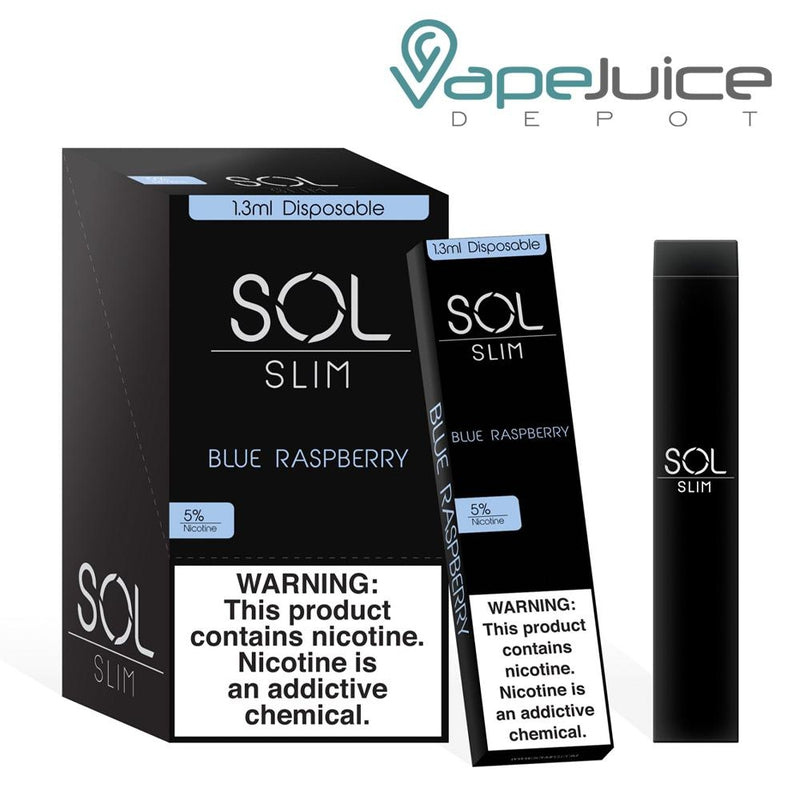 SOL Slim Disposable Device Blue Raspberry - Vape Juice Depot