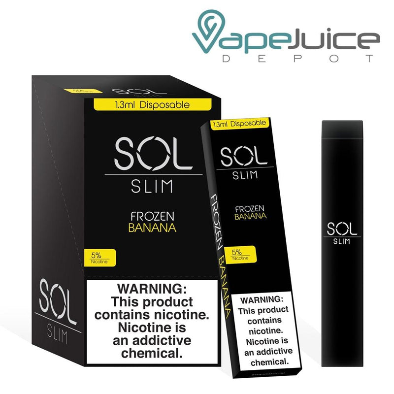 SOL Slim Disposable Device Frozen Banana - Vape Juice Depot