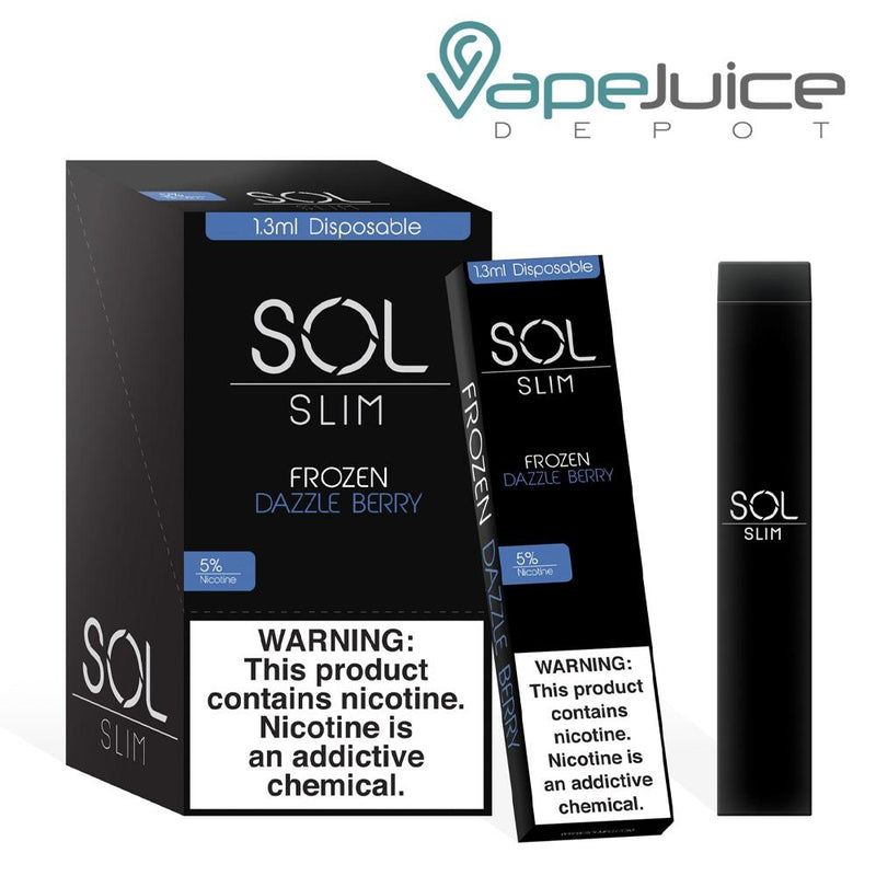 SOL Slim Disposable Device Frozen Dazzle Berry - Vape Juice Depot