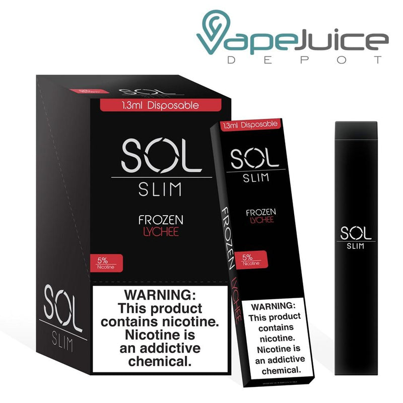 SOL Slim Disposable Device Frozen Lychee - Vape Juice Depot