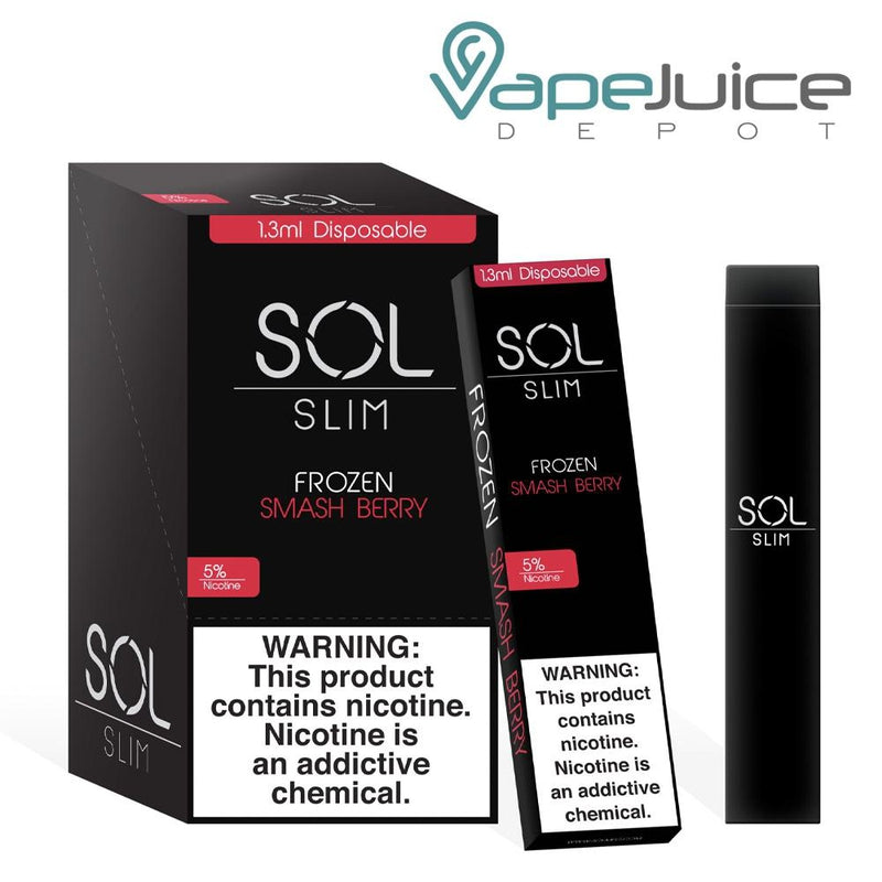 SOL Slim Disposable Device Frozen Smash Berry - Vape Juice Depot
