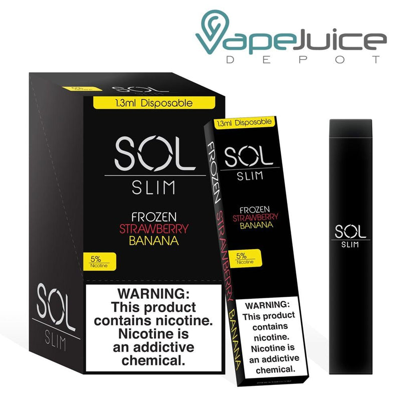 SOL Slim Disposable Device Frozen Strawberry Banana - Vape Juice Depot