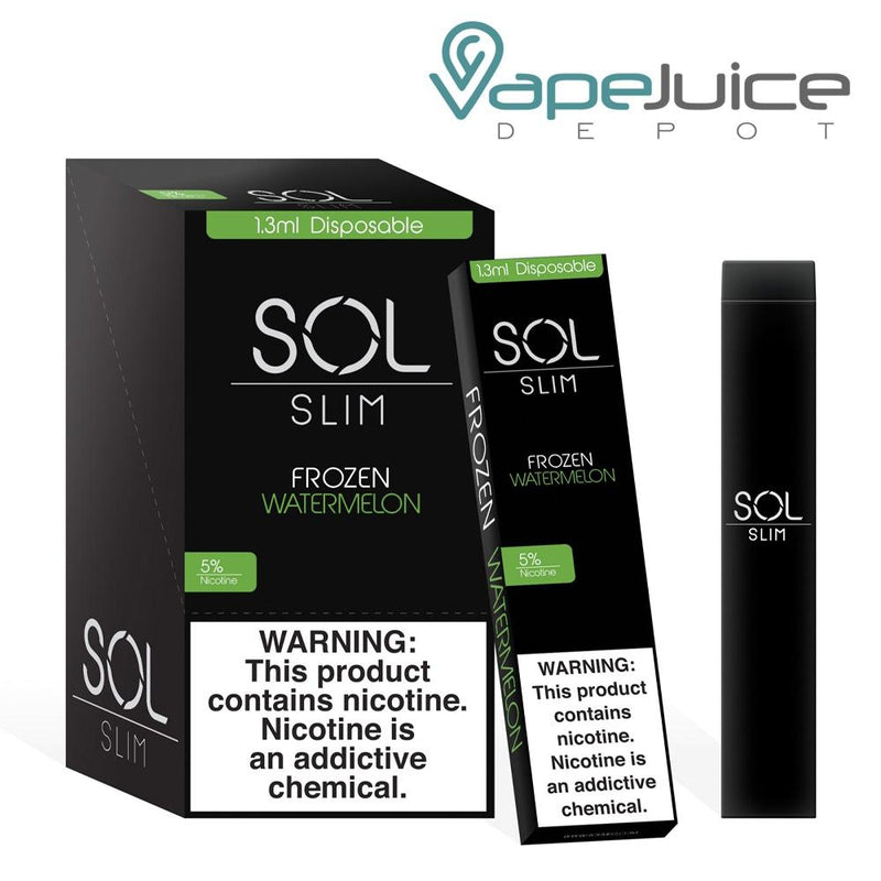 SOL Slim Disposable Device Frozen Watermelon - Vape Juice Depot