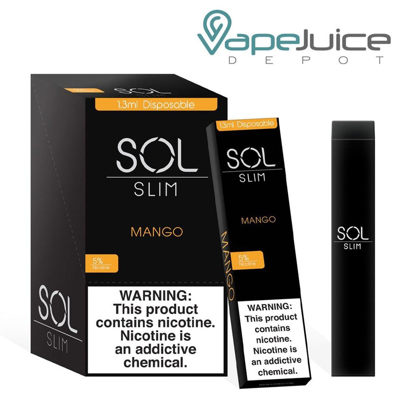 SOL Slim Disposable Device Mango - Vape Juice Depot