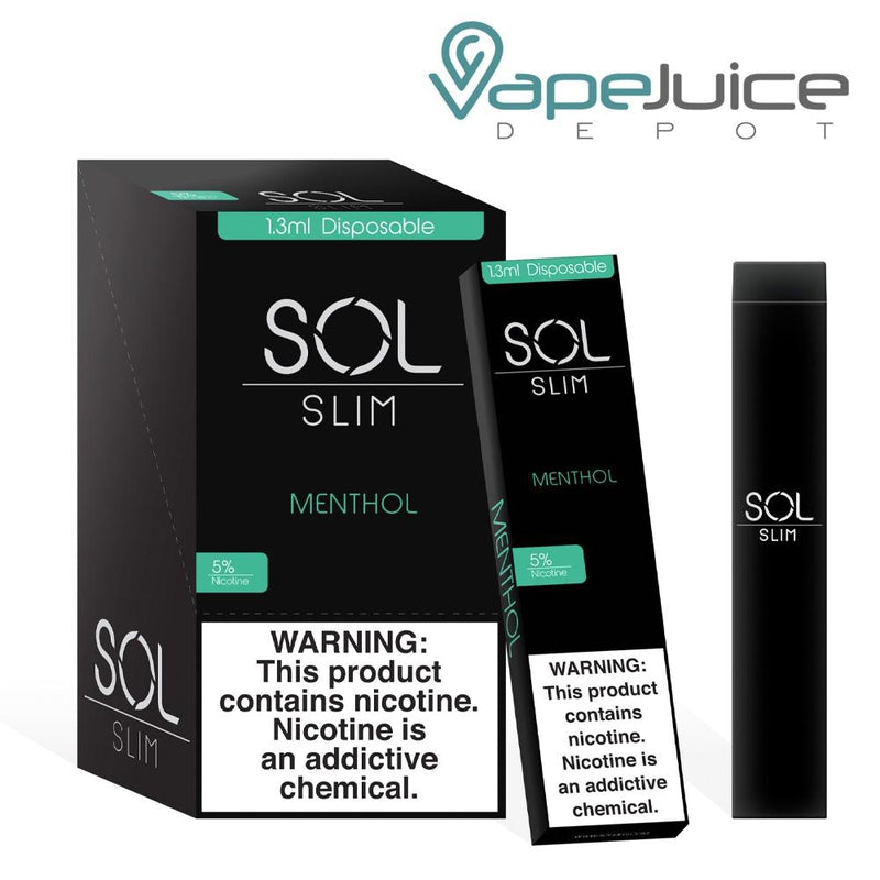SOL Slim Disposable Device Menthol - Vape Juice Depot