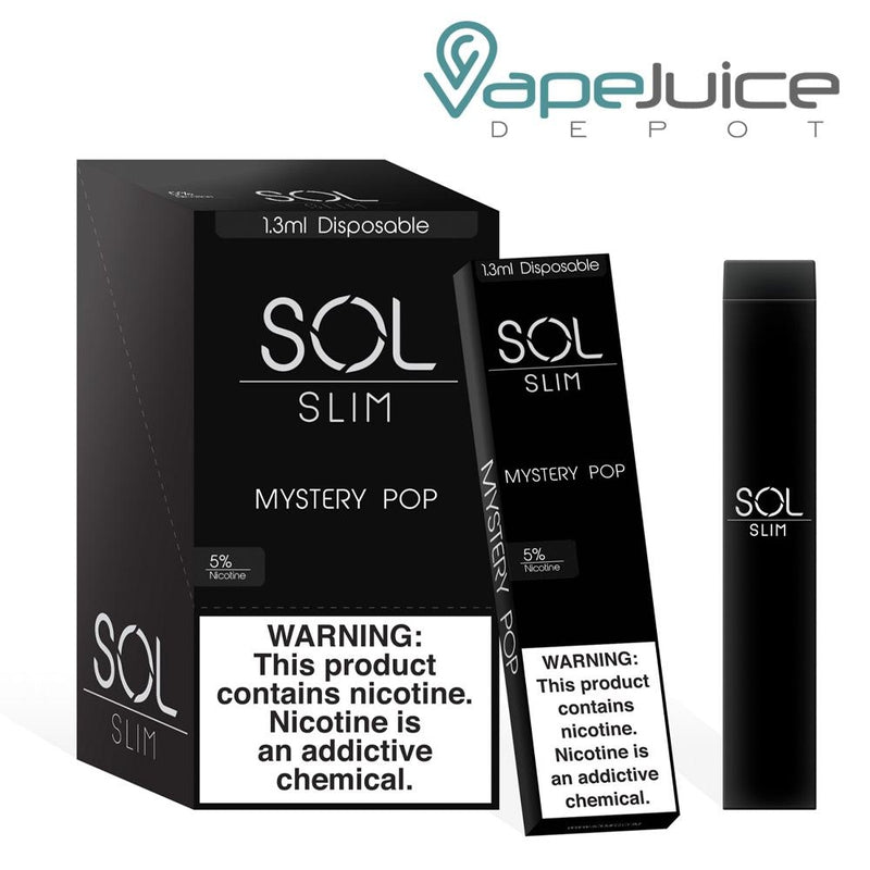 SOL Slim Disposable Device Mystery Pop - Vape Juice Depot
