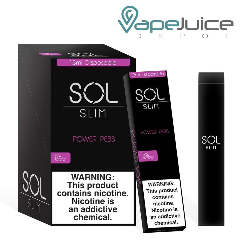 SOL Slim Disposable Device Power Pebs - Vape Juice Depot