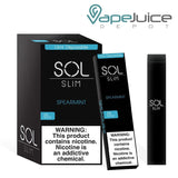 SOL Slim Disposable Device Spearmint - Vape Juice Depot