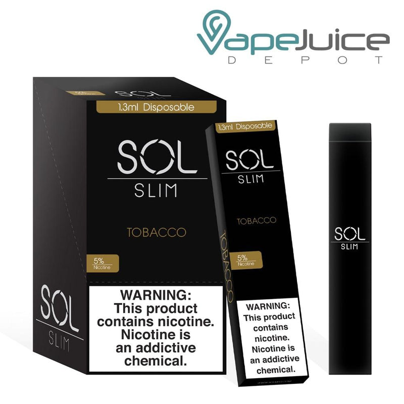 SOL Slim Disposable Device Tobacco - Vape Juice Depot