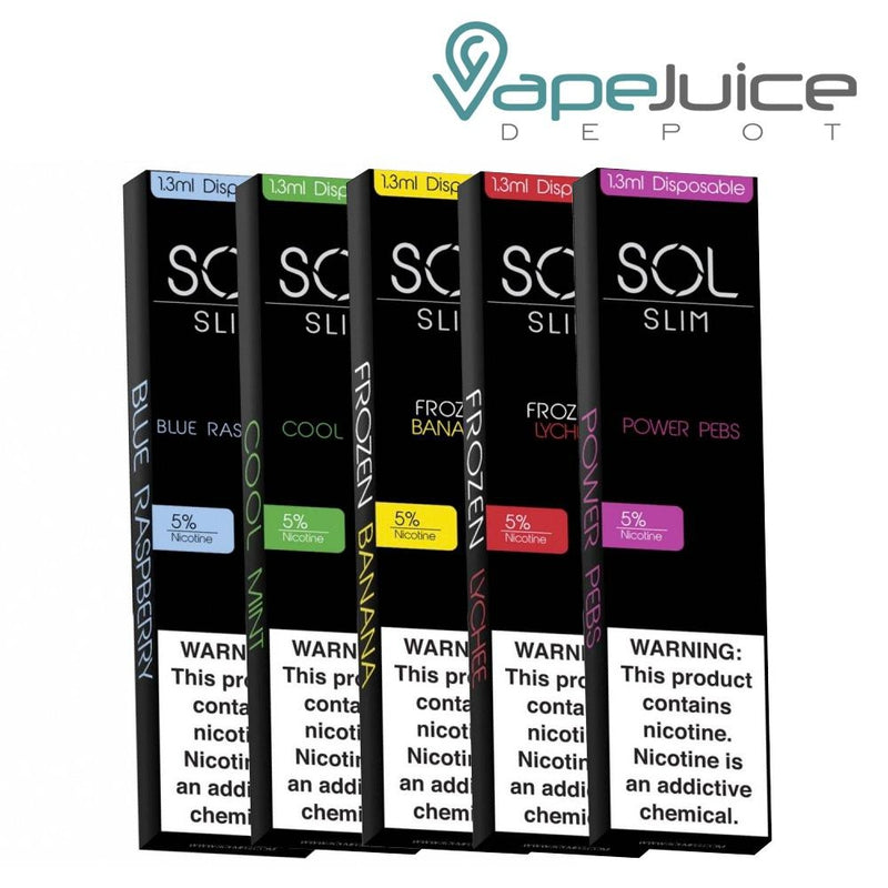 SOL Slim Disposable Device - Vape Juice Depot