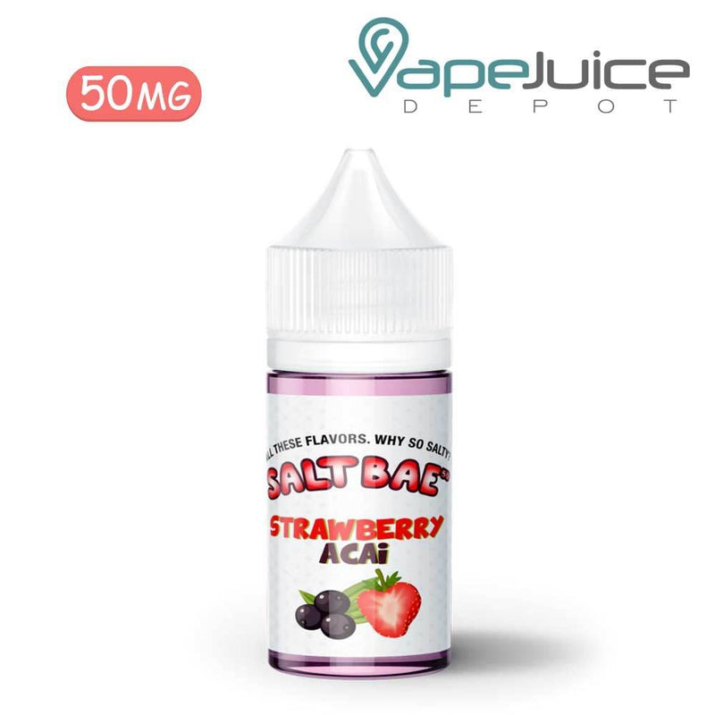 SaltBae50 Strawberry Acai eLiquid 50mg - VapeJuiceDepot