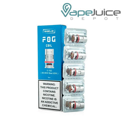 A box of Sigelei FOG Replacement Coils 0.15ohm and pack of 5 coils on the right side - Vape Juice Depot