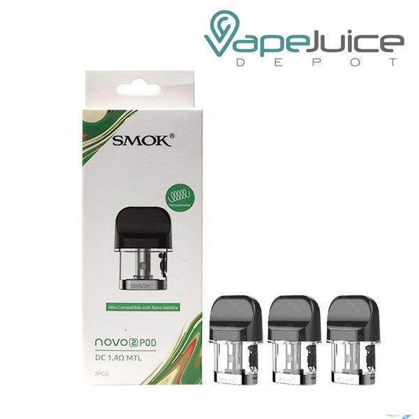 SMOK Novo 2 Replacement Pods 1.4 ohm - FREE Shipping